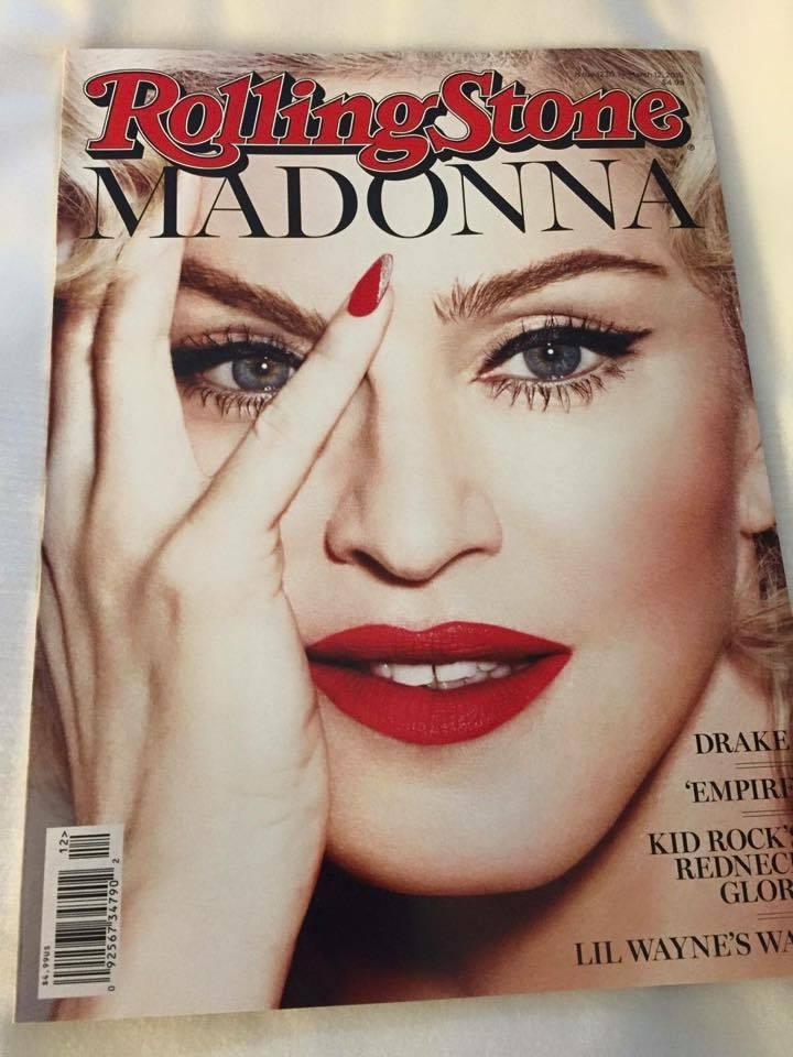Madonna en couverture de Rolling Sttone US ?