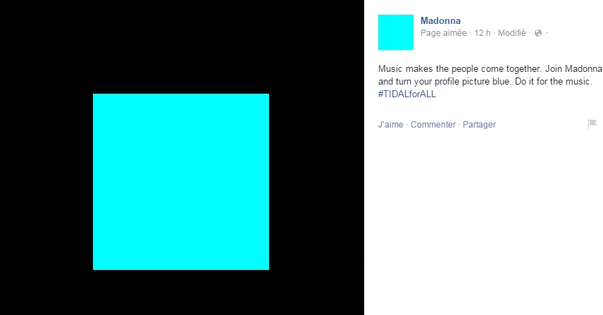 Madonna : Profile Picture Blue - #TIDAL