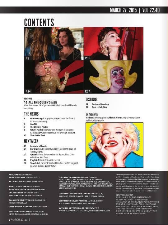 Madonna : NEXT Magazine