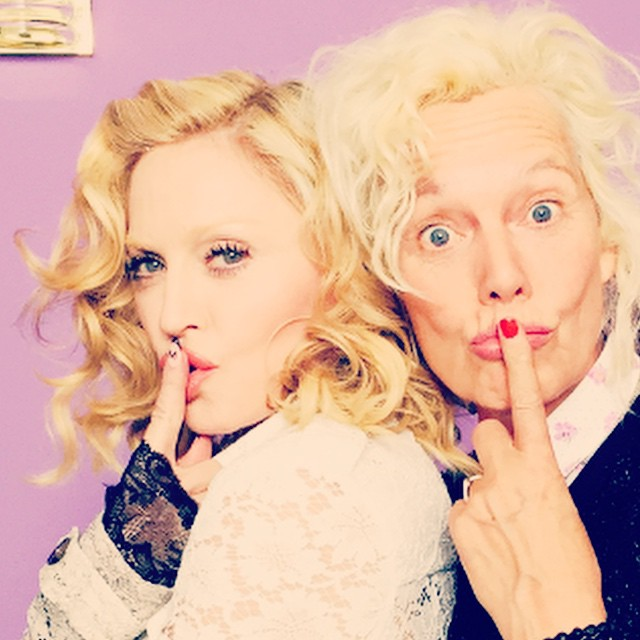 Blonds have more fun! @madonna #rh