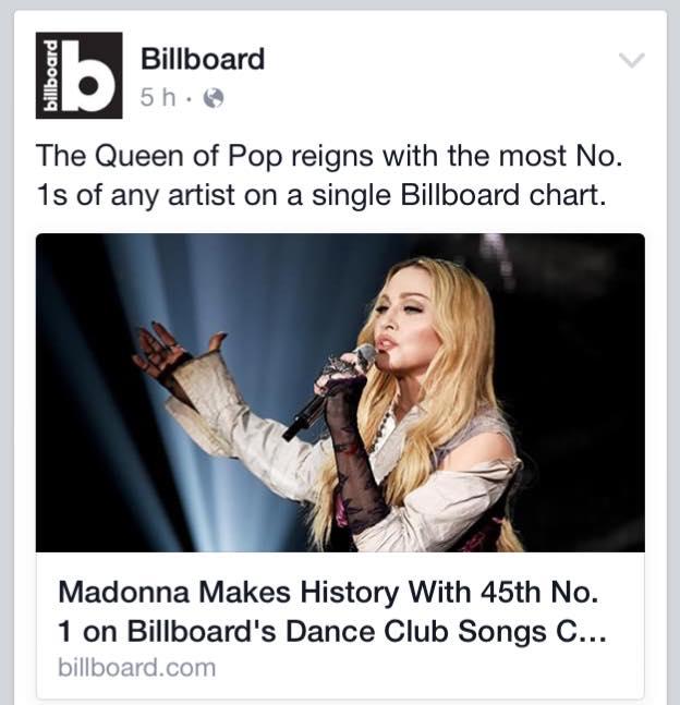 Madonna makes History