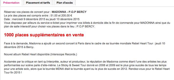 De nouvelles places en vente pour Bercy