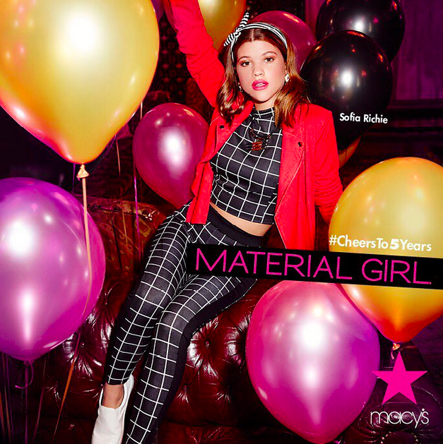 Sofia Richie, égérie de Material Girl