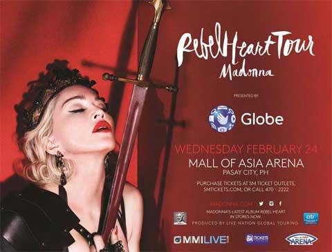 Rebel Heart Tour aux Philippines