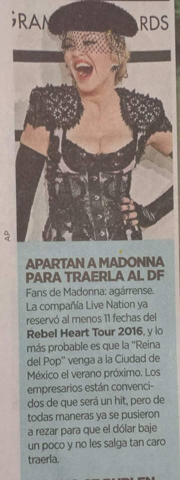 Le Rebel Heart Tour à Mexico ?