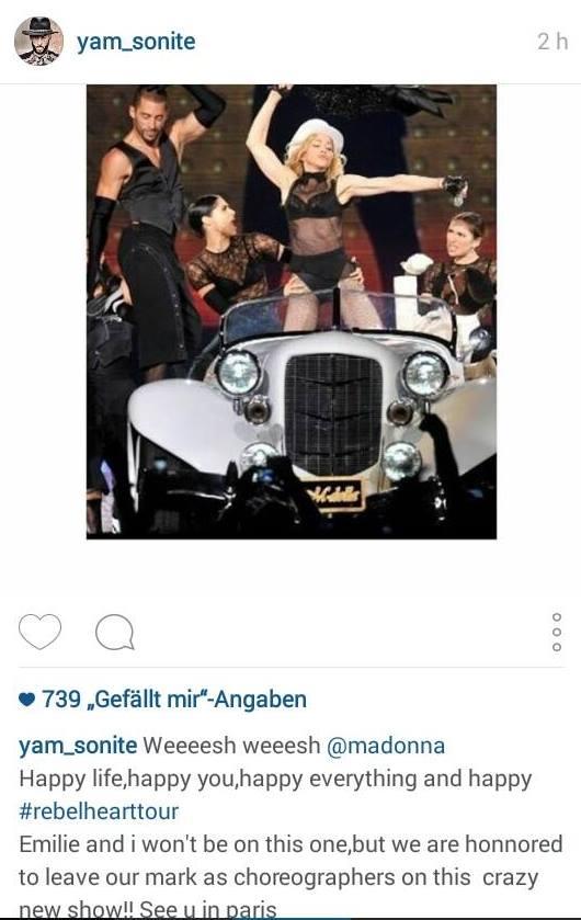 Des danseurs français confirment leurs participations au Rebel Heart Tour
