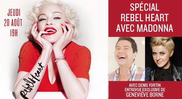 L'interview de Madonna pour Rythme FM