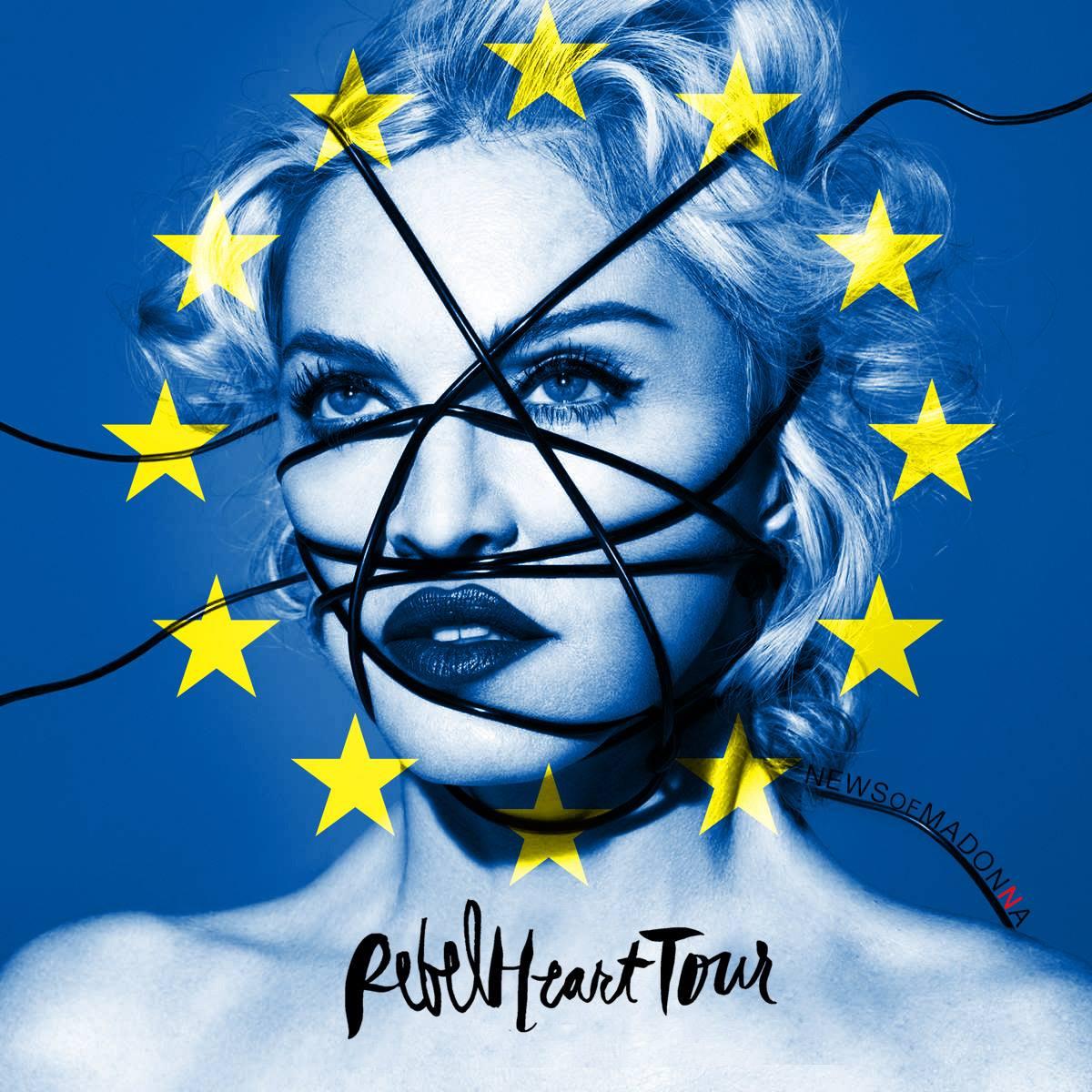 Madonna est en Europe !