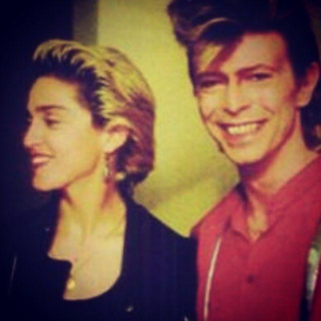 Madonna rend hommage à David Bowie