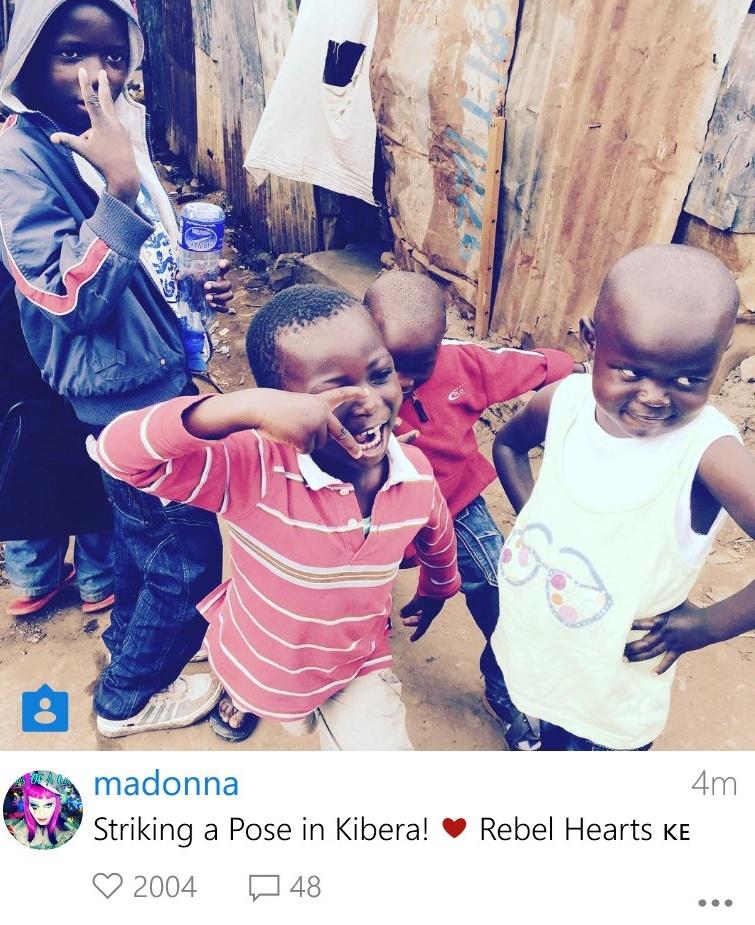 Madonna visite le Kenya