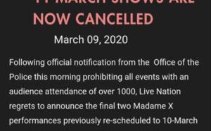 Shows des 10 et 11 annulés