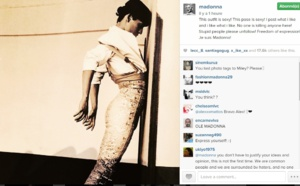 Madonna sur Instagram ce jeudi 29/01