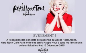 Le Hard Rock Café PARIS : se met aux couleurs de Madonna